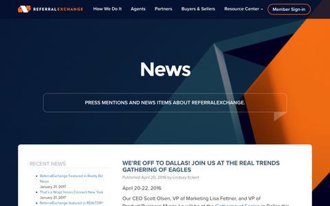 Screenshot of Press Page referralexchange.com - News Archive - Page 5 of 6 - ReferralExchange - captured Feb. 4, 2017