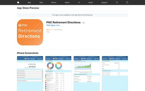 PNC Retirement Directions on the AppStore