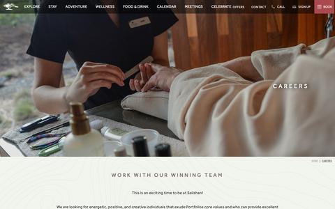 Screenshot of Jobs Page salishan.com captured Nov. 12, 2018