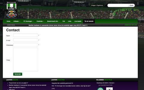 Screenshot of Contact Page boerenmacht.nl - Boerenmacht.nl | Het wordt tijd dat de boer de macht grijpt! - captured Oct. 7, 2014