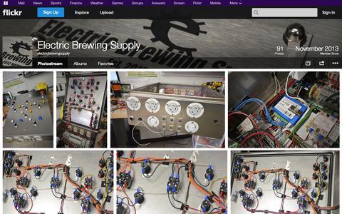 Screenshot of Flickr Page flickr.com - Flickr: electricbrewingsupply's Photostream - captured Oct. 22, 2014