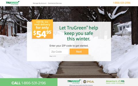 Screenshot of Landing Page trugreen.com - TruGreen. Live Life outside. - captured March 3, 2018