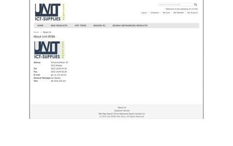 Screenshot of About Page unit.be - About  Us - captured Oct. 9, 2014