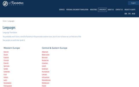 Languages | U.S. Translation Company