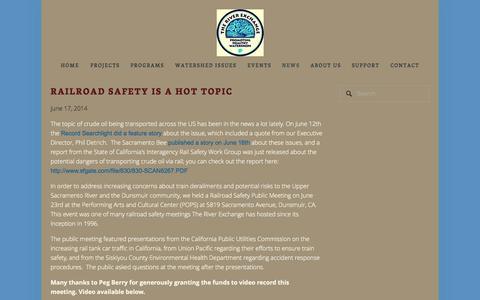 Screenshot of Press Page riverexchange.org - News — The River Exchange - captured Oct. 6, 2014