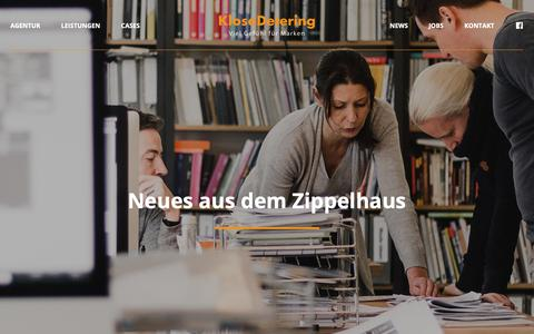 Screenshot of Press Page klosedetering.de - KloseDetering Werbeagentur | News - captured Oct. 15, 2018