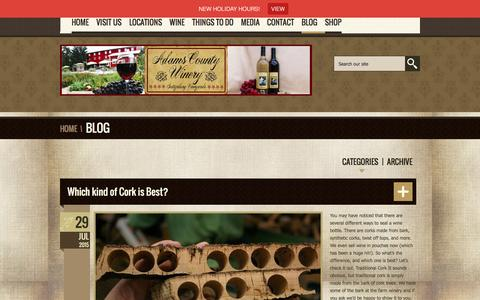 Screenshot of Blog adamscountywinery.com - Adams County Winery - captured Dec. 23, 2015
