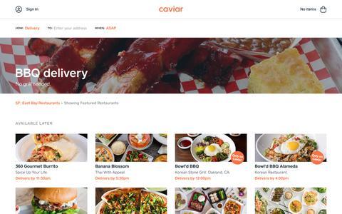 BBQ delivery | Caviar