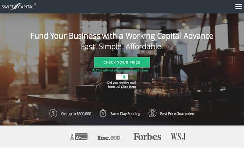 Fast & Simple Business Funding - Working Capital Advance From Swift Capital