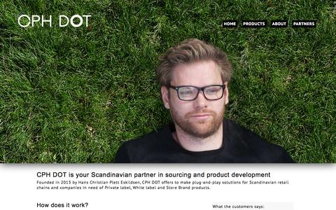 Screenshot of About Page cphdot.com - The right partner for your store brands and private label | CPH DOT - captured Sept. 26, 2014