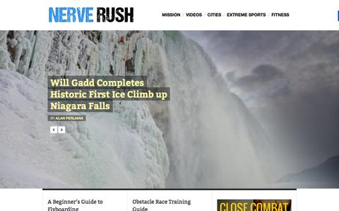 Screenshot of Home Page nerverush.com - Nerve Rush | Your Gateway to Adrenaline - captured Jan. 10, 2016