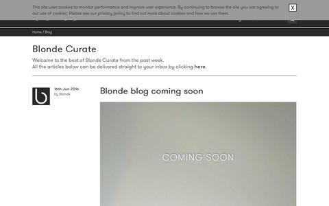 Screenshot of Blog blondefilms.com - Blog - Blondefilms - captured Nov. 22, 2016