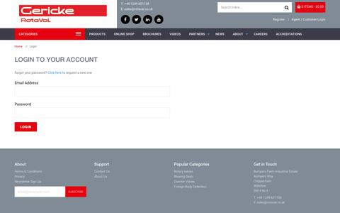 Screenshot of Login Page rotaval.co.uk - Login To Your Account - captured Oct. 23, 2017