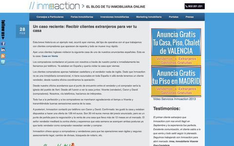 Screenshot of Blog inmoaction.com - Vender casa y piso a extranjeros en Valencia, Madrid,... - captured June 7, 2017