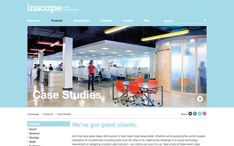 Screenshot of Case Studies Page inscapesolutions.com - Case Studies - Inscape Corporation - captured Oct. 6, 2014