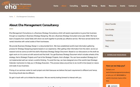 Screenshot of About Page ehamanagementconsultancy.com - Business Strategy Consultancy | Eha Management Consultancy - captured Dec. 7, 2018