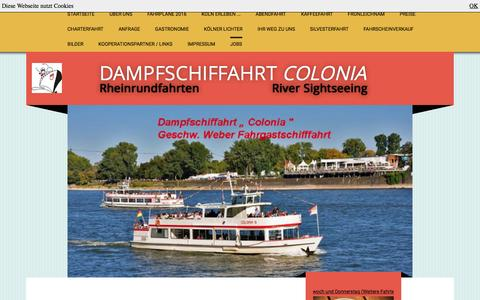 Screenshot of Jobs Page dampfschiffahrt-colonia.de - Rheinrundfahrten - Jobs - captured June 9, 2016