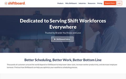 Screenshot of About Page shiftboard.com - About Us | Shiftboard - captured Feb. 6, 2019