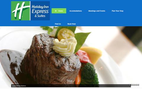 Screenshot of Home Page hievanburen.com - Holiday Inn Express & Suites – Van Buren, AR Hotel and Accommodations. - captured Aug. 19, 2017