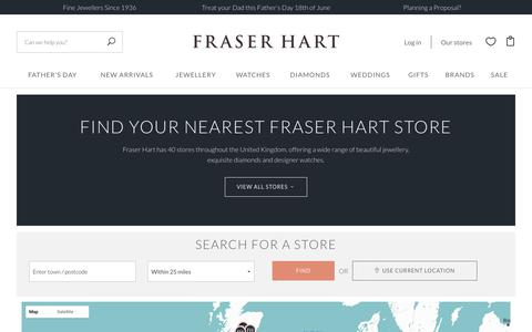 Screenshot of Maps & Directions Page fraserhart.co.uk - Find your store / Fraser Hart - captured June 6, 2017