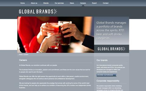Screenshot of Jobs Page globalbrands.co.uk - Careers at Global Brands | GlobalBrands.co.uk - captured Oct. 2, 2014