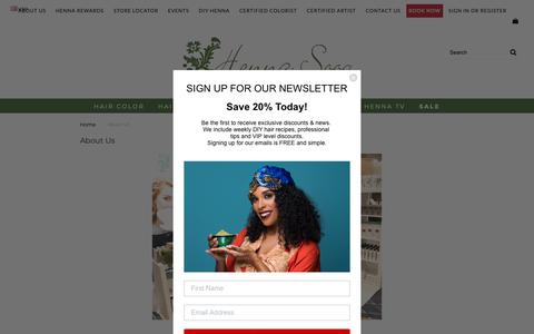 Screenshot of About Page hennasooq.com - Read Our Story - With only $150 to jump start Henna Sooq - captured Nov. 4, 2018