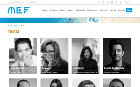 Screenshot of Team Page magef.org - Team | Maghreb Economic Forum - captured Nov. 18, 2016