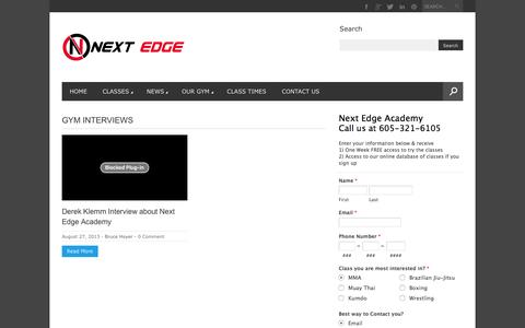 Screenshot of Testimonials Page nextedgeacademy.com - Gym Interviews – Next Edge Academy - captured Jan. 11, 2016