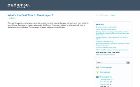 What is the Best Time to Tweet report? – Help us build a better Audiense