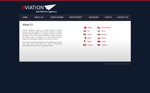 Screenshot of About Page aviaworkforce.com - Aviation Workforce >> About Us - captured Feb. 6, 2016