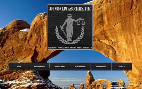 Screenshot of Home Page sajlegal.com - Johnson Law Associates, PLLC - captured Oct. 6, 2014