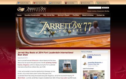 Screenshot of Press Page jarrettbay.com - Jarrett Bay Boatworks: Custom Sport Fishing Yachts & Full Service Facility   Jarrett Bay Boatworks - captured Oct. 6, 2014