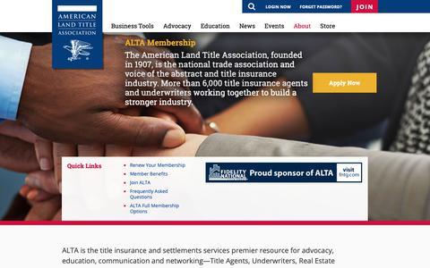 Screenshot of Signup Page alta.org - ALTA - ALTA Membership - captured Oct. 3, 2018