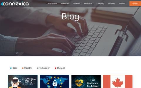 Screenshot of Blog connexica.com - Connexica Blog for data, industry and technology | Connexica - captured July 1, 2018