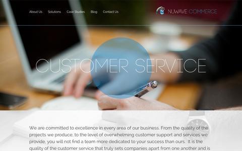 Screenshot of Support Page nuwavecommerce.com - Customer Service | NuWave Commerce - captured Sept. 30, 2014