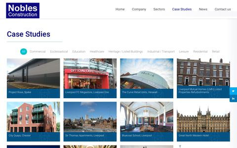 Screenshot of Case Studies Page noblesconstruction.co.uk - Case Studies | Nobles Construction - captured Oct. 20, 2018