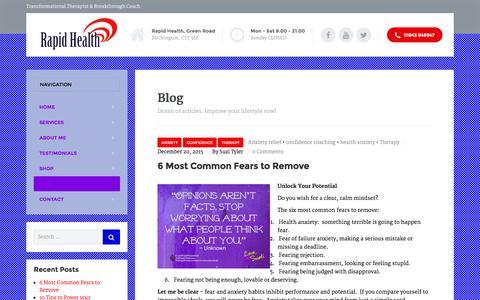 Screenshot of Blog rapid-health.co.uk - Blog � Suzi Tyler - captured Jan. 13, 2016