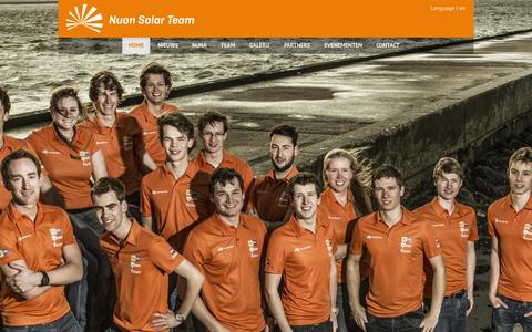 Screenshot of Home Page nuonsolarteam.nl - Nuon Solar Team - captured Aug. 12, 2015