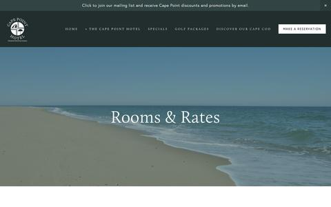 Screenshot of About Page capepointhotel.com - Cape Cod Accommodations - Rooms & Rates — Cape Point Hotel on Cape Cod - captured June 23, 2016