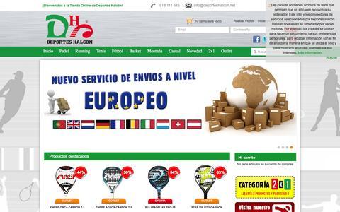 Screenshot of Home Page deporteshalcon.net - Deportes Halcón  – Tienda de deportes online, Madrid. - captured May 28, 2016