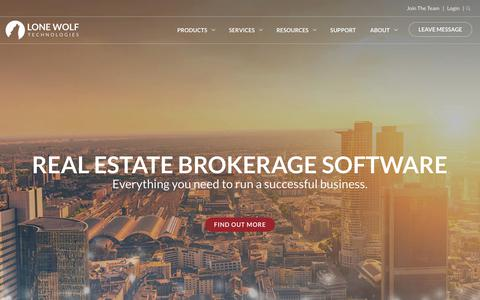 Screenshot of Home Page lwolf.com - Real Estate Brokerage Software | Lone Wolf Technologies - captured June 23, 2017