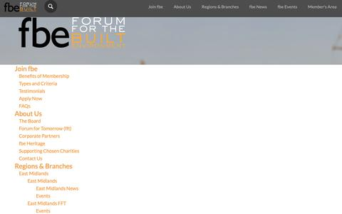 Screenshot of Site Map Page fbeonline.co.uk - Forum for the Built Environment (fbe) - captured Oct. 10, 2018