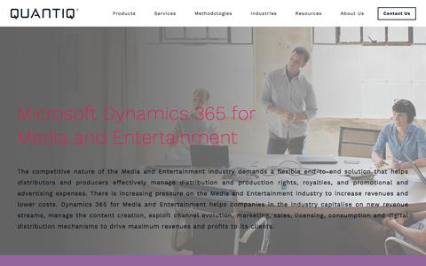 Screenshot of Press Page quantiq.com - Microsoft Dynamics for Media and Entertainment | QUANTIQ - captured July 8, 2018