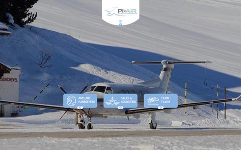 Screenshot of Home Page pi2air.com - PI2AIR | Pilots and trainings - captured July 18, 2018