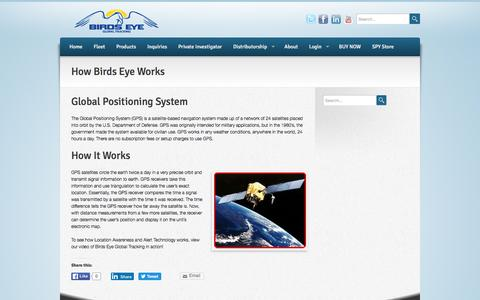Screenshot of Maps & Directions Page birdseyeglobaltracking.com - -  How Birds Eye Works - captured Jan. 4, 2016