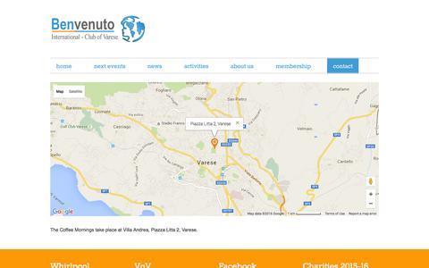 Screenshot of Maps & Directions Page benvenutovarese.org - Benvenuto Map - captured Feb. 7, 2016