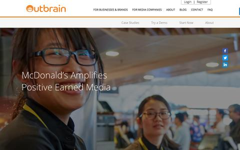 Screenshot of Case Studies Page outbrain.com - McDonald's Case Study: How To Amplify Earned Media | Outbrain.com - captured April 19, 2018