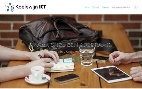 Screenshot of Home Page koelewijnict.nl - Home - Koelewijn ICT - captured Nov. 15, 2018