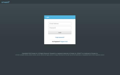 Screenshot of Login Page smaato.com - Smaato Publisher Adserver - captured July 4, 2016