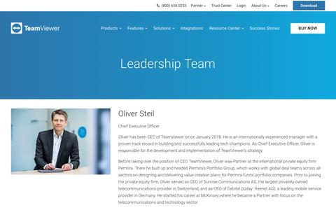 Screenshot of Team Page teamviewer.com - The Leadership Team at TeamViewer - captured Sept. 19, 2018